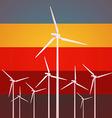 wind turbines vintage style vector image