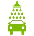Car Shower Flat Symbol vector image