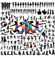 Collection of silhouettes vector image