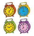 Clocks Color Set vector image