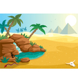 desert oasis vector image