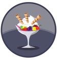 Ice Cream Dessert with Fruits vector image
