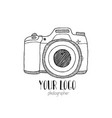 sketch of a photo camera drawn by hand vector image