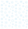 Winter pattern with blue snowflakes vector image