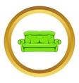 Sofa icon cartoon style vector image