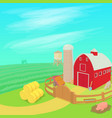 farm landscape concept cartoon style vector image