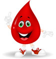 Cute red blood cartoon pointing his finger vector image vector image