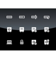 Password icons on black background vector image vector image
