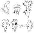 funny face black vector image