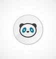 panda icon 2 colored vector image