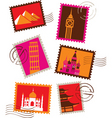 travel and vacation stamps vector image vector image