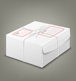 Parcel boxes white box design background vector image vector image