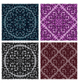 vintage seamless patterns set vector image