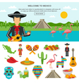 Mexico Flat Icon vector image