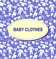 baby background blue vector image vector image