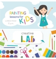 Painting lessons Kids creativity Lab vector image