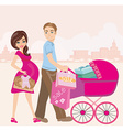 beautiful pregnant woman and her husband on vector image