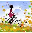 bike outdoors vector image