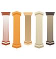 Column Doric Roman style vector image