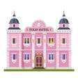 Hotel building vector image