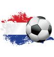 Netherlands Soccer Grunge vector image
