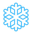 snowflake low temperature sign vector image