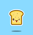 toast kawaii cute design flat cartoon icon vector image