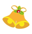bell christmas decoration isolated vector image