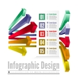 3d line arrow business concepts with icons vector image vector image