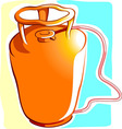 gas cylinder vector image