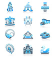 Attraction icons - MARINE series vector image
