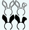 Easter bunny ears vector image vector image