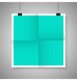 Blank paper poster vector image