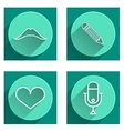 Flat icons for blog vector image