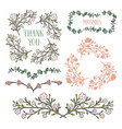 floral design elements frames and borders vector image