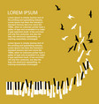 piano keys turn into birds vector image
