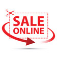 sale online arrow sign set vector image