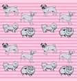 seamless background of set dogs vector image