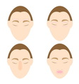 Woman easy massage anti face wrinkle 1 vector image