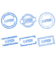 Open stamps vector image vector image
