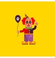 Scary clown for halloween in a flat style vector image