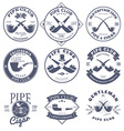 Set of Pipe Club Label and Badges Design Elements vector image