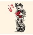 clown hand draw vector image