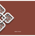 3d white ornament in arabic style vector image
