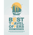 best travel offers vector image