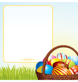 Spring Easter Basket vector image