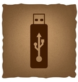 USB flash drive sign vector image