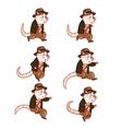 Adventurer Rat Jumping Sprite vector image
