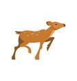 fallow sika roe deer running wild animal cartoon vector image