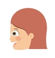 girl head profile isolated icon design vector image